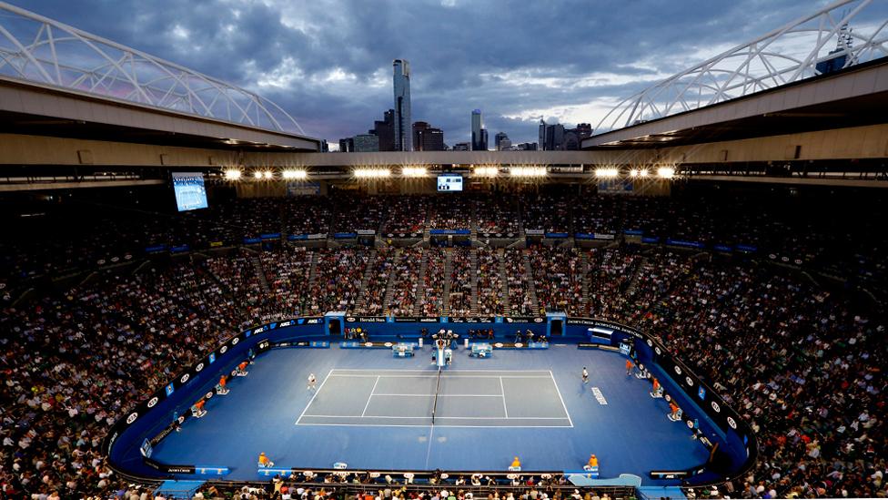 Innenansicht Rod Laver Arena in Melbourne