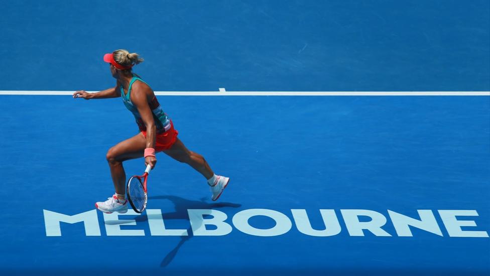 Angelique Kerber in der Rod Laver Arena während der Australian Open