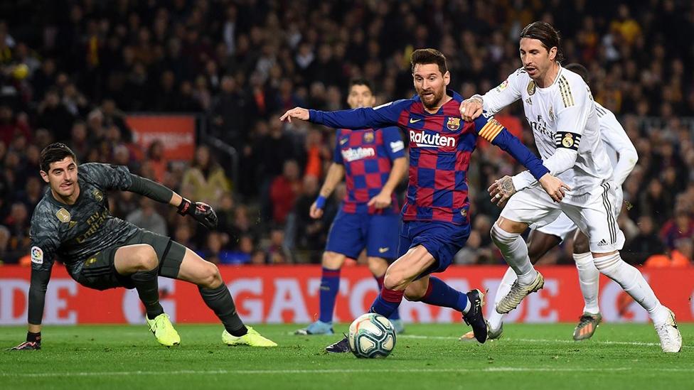 Lionel Messi während des El Clásico