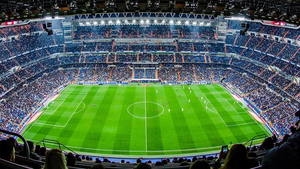 Innenansicht Estadio Santiago Bernabéu