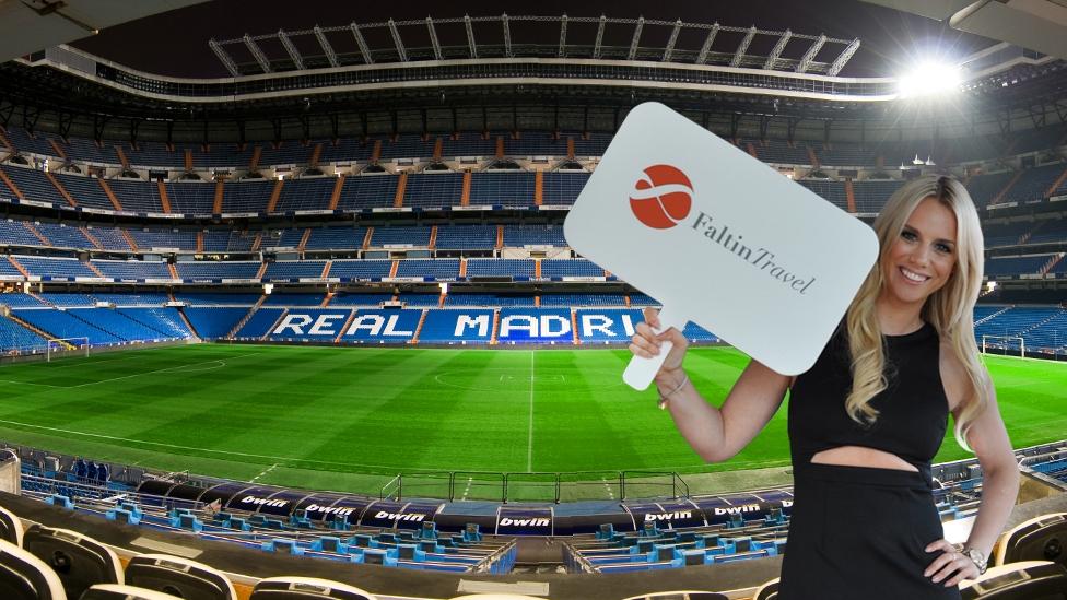 Faltin Travel Mitarbeiterin im Estadio Santiago Bernabéu