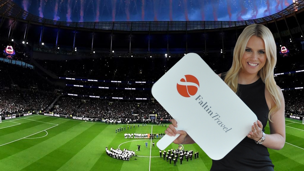 Faltin Travel Mitarbeiterin im Tottenham Stadium