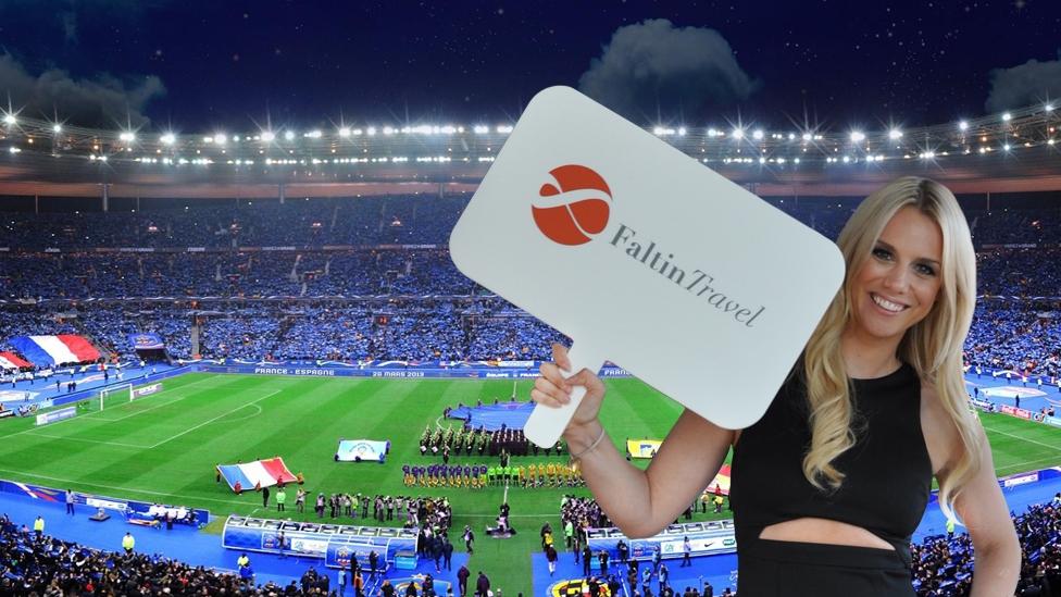 Faltin Travel Mitarbeiterin im UEFA Euro 2020 Stadion