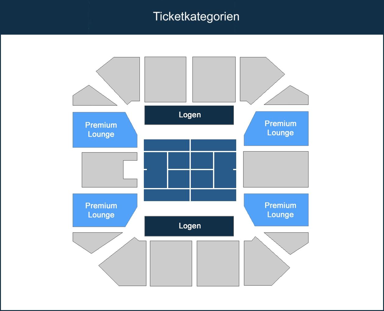 Swiss Indoors Ticketkategorien - Hallenplan