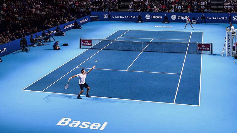 Swiss Indoors Match in der St. Jakobshalle Basel