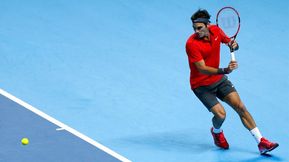 Roger Federer bei den Swiss Indoors
