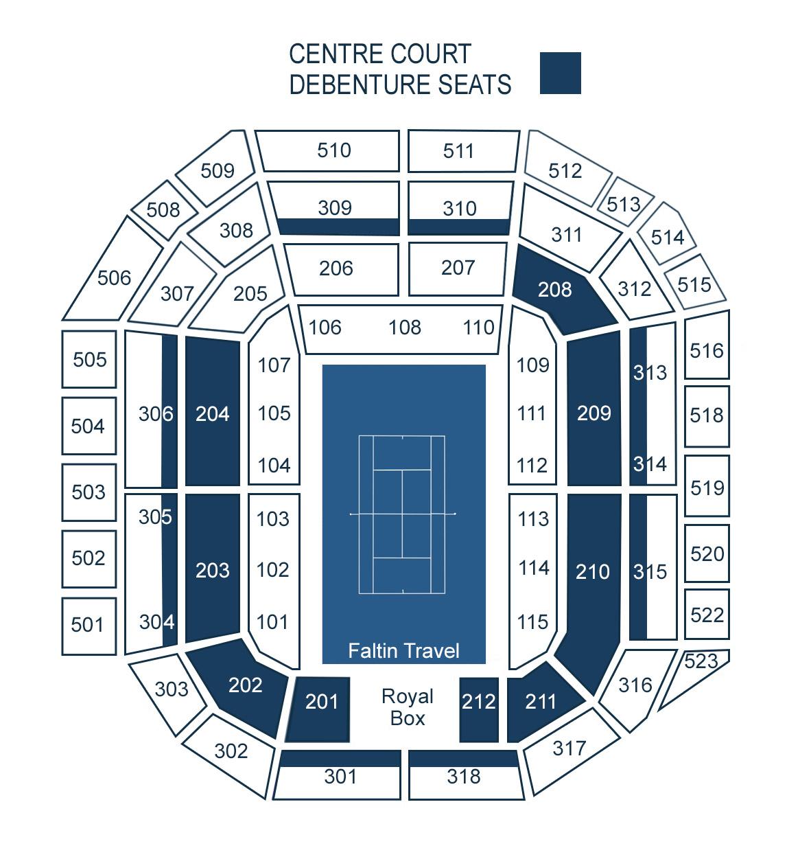 Stadionplan Wimbledon Centre Court