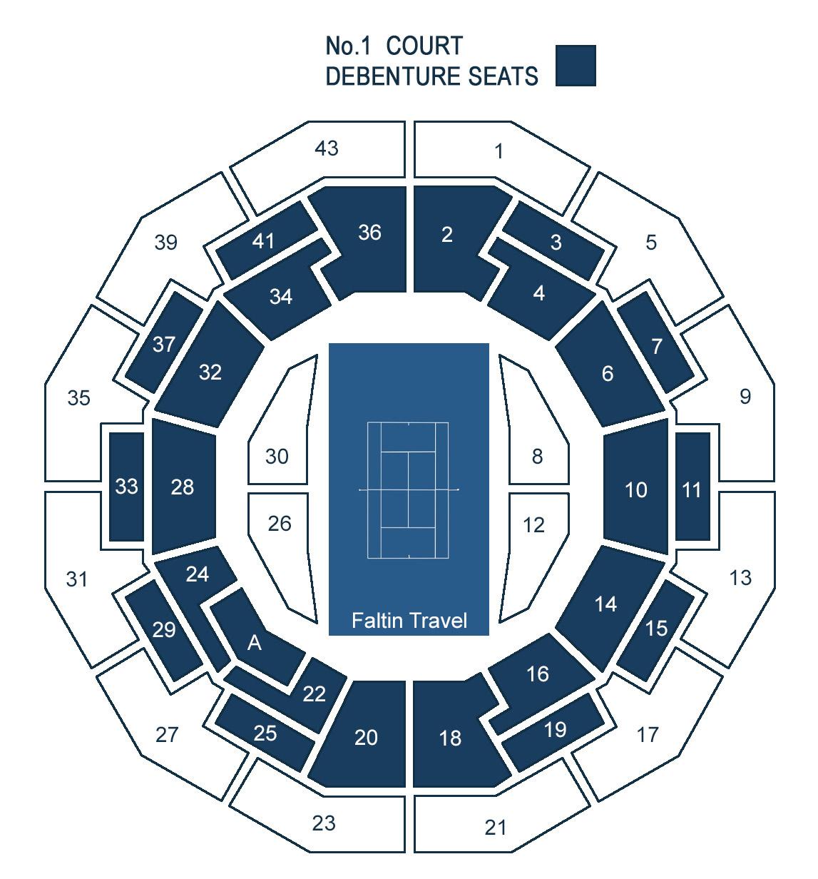Wimbledon No. 1 Court Sitzplan