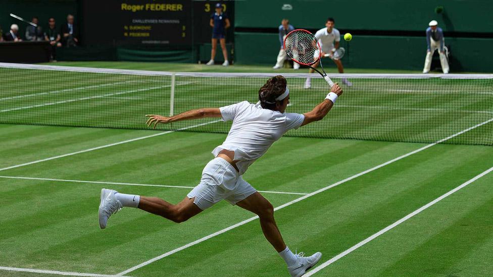 Roger Federer auf dem Wimbledon Centre Court