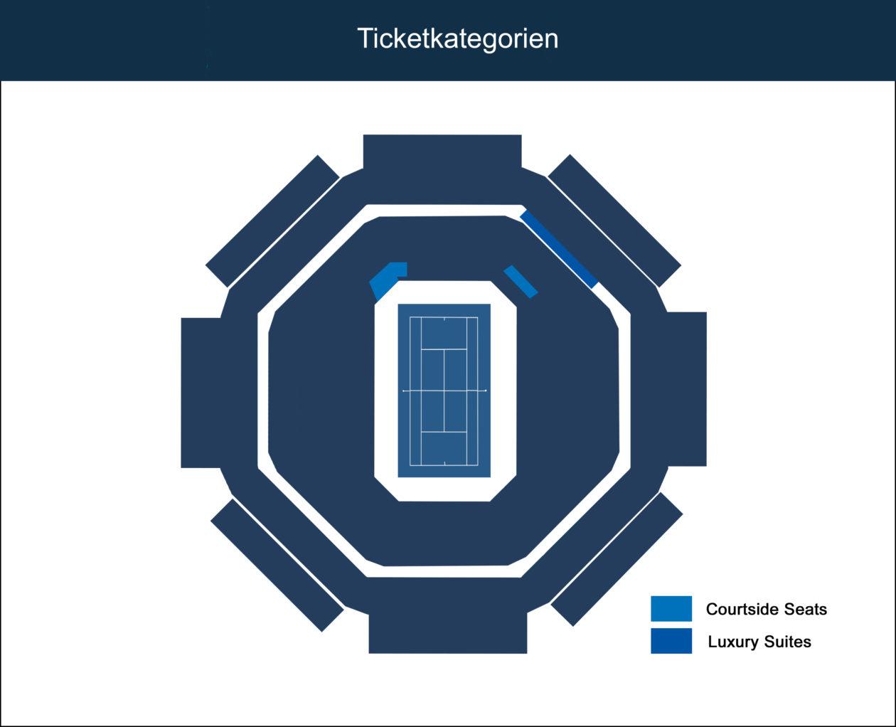 Sitzplan Indian Wells Stadium 1