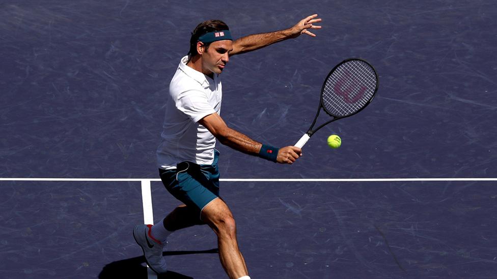 Roger Federer während der Paribas Open in Indian Wells