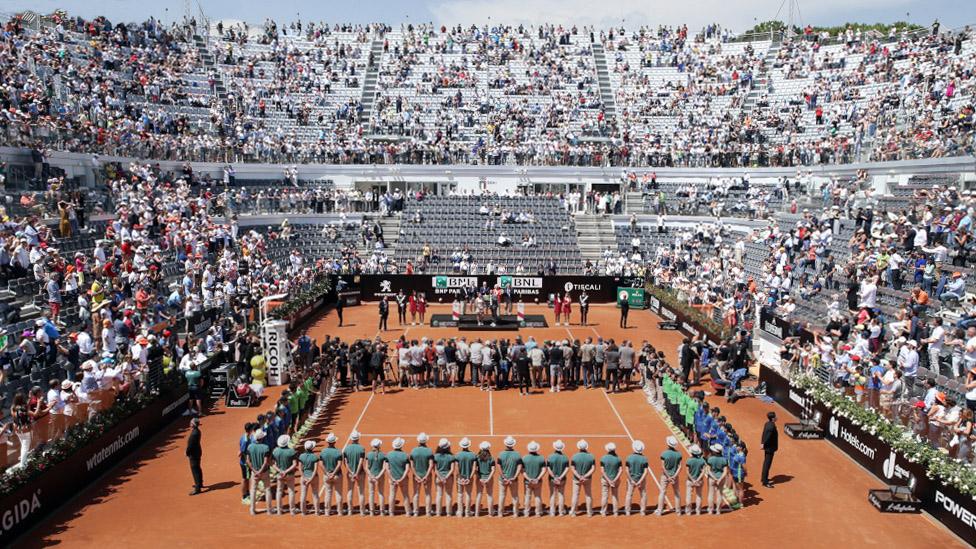 Rom Masters Siegerehrung auf dem Campo Centrale