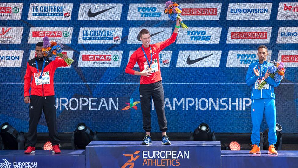 Siegerehrung Leichtathletik EM