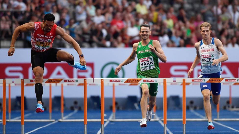 Hürdenlauf Männer Leichtathletik EM