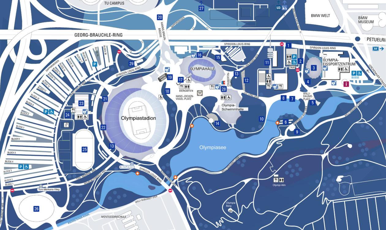 Lageplan Olympiapark München